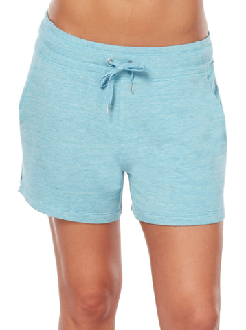 Free Country Women's B Relaxed Luxe Fleece Short - Rich Water - S