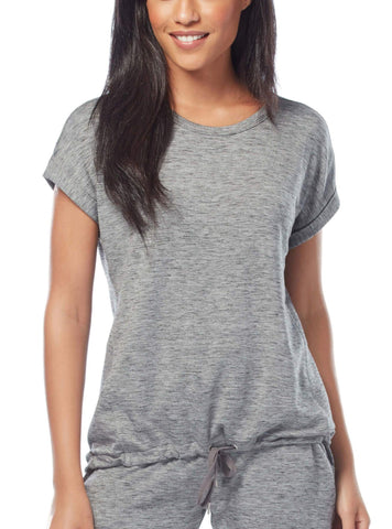 Free Country Women's B Relaxed Tee - Charcoal