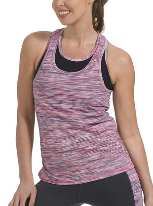 Free Country Women's B Sporty Space Dye Tank - Spring Rose - S