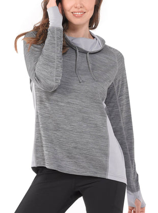 Free Country Women's B Styling Cowl Neck Top - Charcoal - S