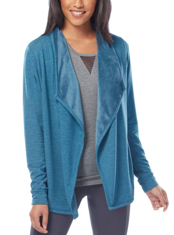 Free Country Women's B Wrapped Up Velour Lined Jacket - Teal