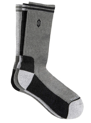 Free Country Women's Basic Varsity Stripe Crew Socks - Black - 6-10