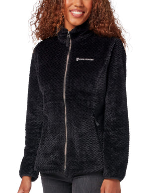 Free Country Women's Braided Butter Pile® Fleece Jacket - Black - S