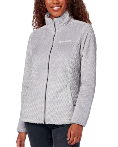 Free Country Women's Braided Butter Pile® Fleece Jacket - Silver - S