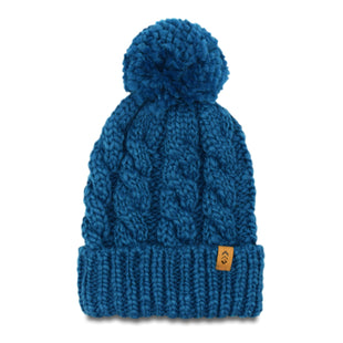 Free Country Women's Cable Knit Cuffed Beanie - Agate Blue - O/S