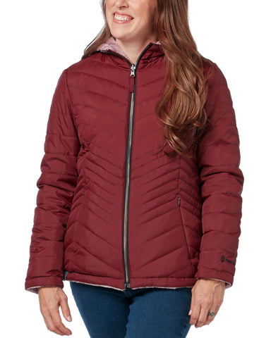 Free Country Women's Caliber Midweight Reversible Jacket - Brick - S