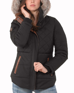 Free Country Women's Canyon Quilted Jacket - Black - S