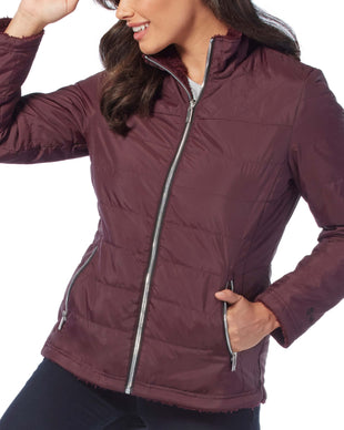 Free Country Women's Cascade Quilted Reversible Jacket - Mahogany - S