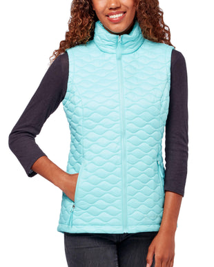 Free Country Women's Chalet Quilted Vest - Aqua - S
