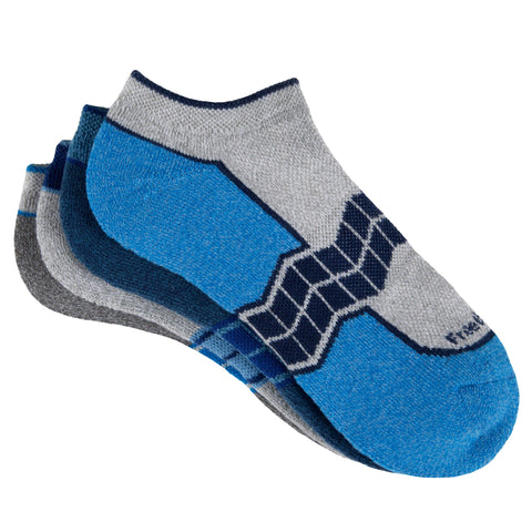 Free Country Women's Chevron Arch Pop No-Show Socks - Blue - 6-10
