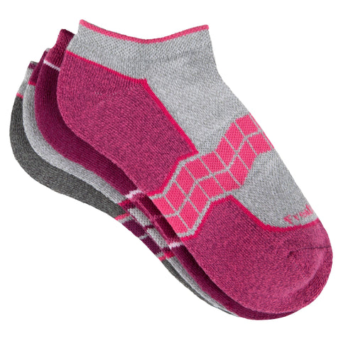 Free Country Women's Chevron Arch Pop No-Show Socks - Pink - 6-10