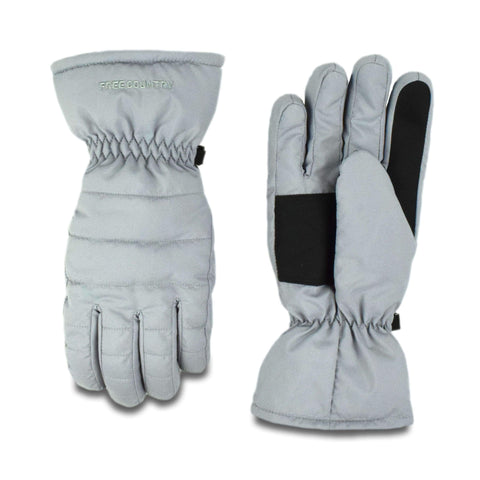 Free Country Women's Cirre Puffer Glove - Cement - S/M