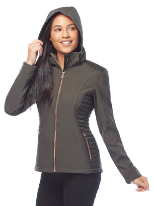 Free Country Women's Contender Super Softshell Jacket - Vintage Olive - S