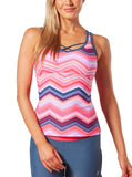 Women's Cruisin' Chevron Criss Cross Back Tankini Top