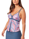 Women's Crystal Gem Flyaway Tankini Top