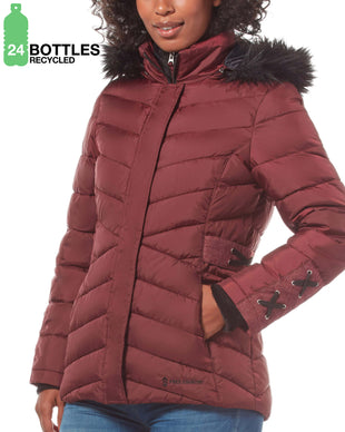 Free Country Women's Cumulus Cloud Lite REPREVE® Jacket - Brick - S