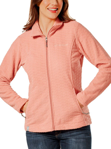 Free Country Women's Diamond Sculpted Fleece Jacket - Dusty Coral - S