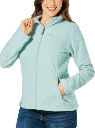 Free Country Women's Diamond Sculpted Fleece Jacket - Urban Mist - S
