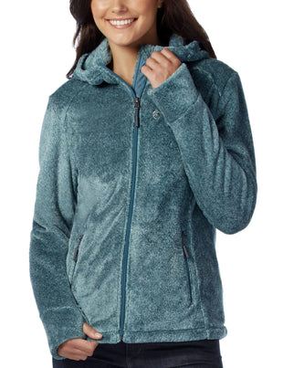 Free Country Women's Elegance Heather Butter Pile Fleece Jacket - Teal - S
