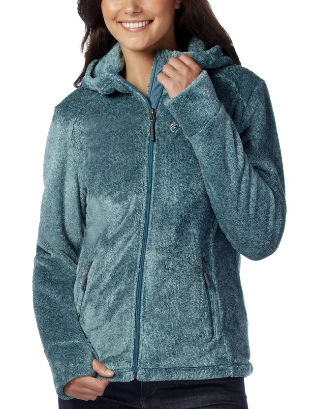 Women s Elegance Heather Butter Pile Fleece Jacket – Free Country a6fa6cac8c