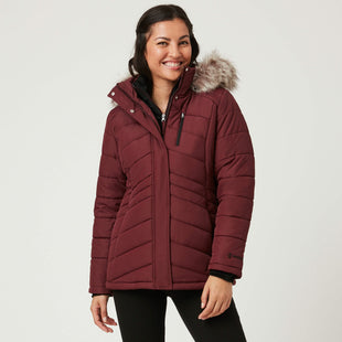 Free Country Women's Endeavor Parka Jacket - Brick - S