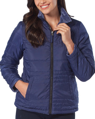 Free Country Women's Evergreen Cloud Lite Reversible Jacket - Navy - S