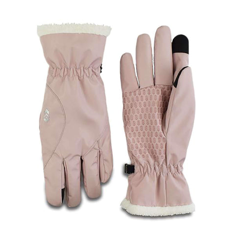 Free Country Women's Faille Softshell Glove - Blush - S/M