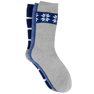 Free Country Women's Fair Isle Full Cushion Crew Socks - Blue - 6-10