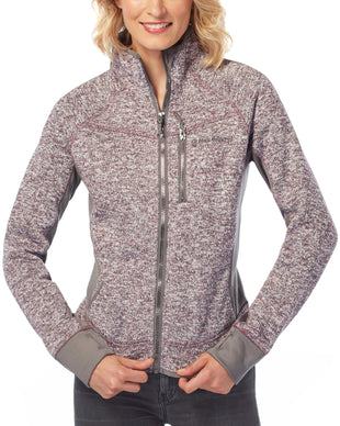 Free Country Women's Fawn Mountain Fleece Combo Jacket - Mauve - S