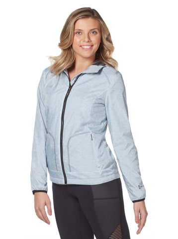 Free Country Women's Petite Fervent Windshear Jacket - Silver Chip-Grey