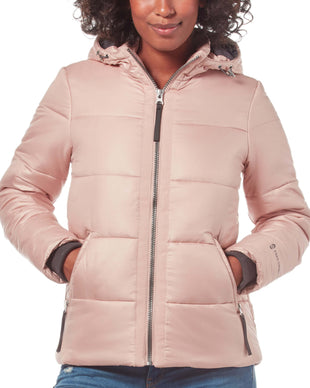 Free Country Women's Form Midweight Puffer Jacket - Pink Quartz - S