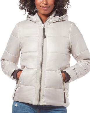 Free Country Women's Form Midweight Puffer Jacket - Silver - S