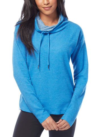 Free Country Women's Free 2 Explore Cowl Neck Top - Electric Azure - S