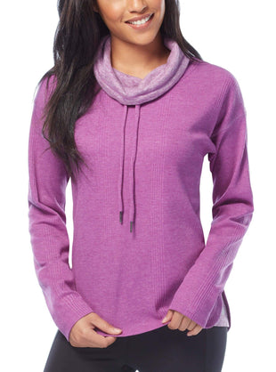 Free Country Women's Free 2 Explore Cowl Neck Top - Grape - S
