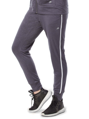 Free Country Women's Free 2 Hang Out Side Stripe Jogger Pants - Charcoal - S