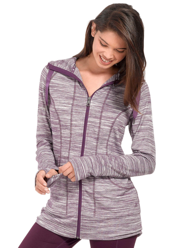 Women s Free 2 Hang Out Striated Zip Up Hoodie – Free Country 0921167b7