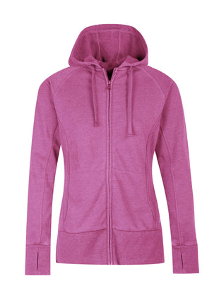 Free Country Women's Free 2 Hang Out Zip Up Hoodie - Fuchsia - S