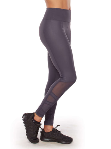 Free Country Women's Free 2 Shine 7/8 Ankle Tight - Charcoal