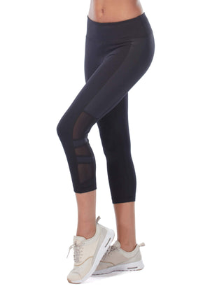 Free Country Women's Free 2 Shine Mesh Capri - Black - S