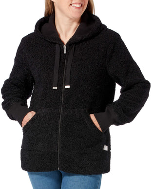 Free Country Women's Free2B Bonded Boucle Fleexe Hoodie - Black - S