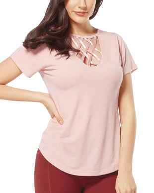 Free Country Women's Free2B Lattice Top - Blush - S