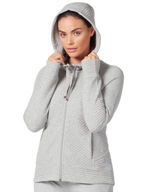 Free Country Women's Free2B Micro Puff Rib Jacket - Grey - S