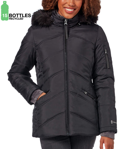 Free Country Women's FreeCycle™ Alto Cloud Lite® Parka Jacket - Black - S