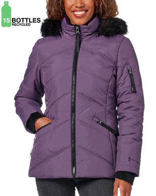 Free Country Women's FreeCycle™ Alto Cloud Lite® Parka Jacket - Smoky Grape - S