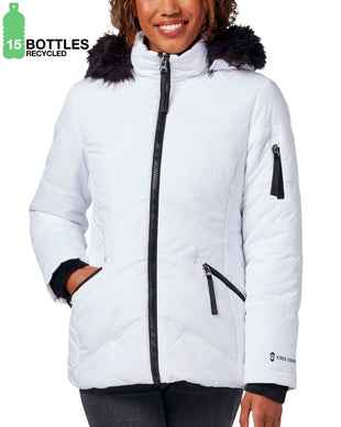 Free Country Women's FreeCycle™ Alto Cloud Lite® Parka Jacket - White - S