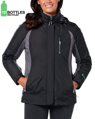 Free Country Women's FreeCycle™ Black Run 3-in-1 Systems Jacket - Black - S