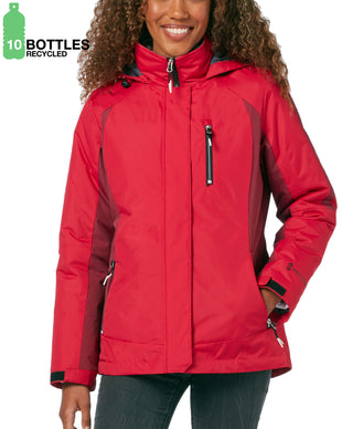 Free Country Women's FreeCycle™ Black Run 3-in-1 Systems Jacket - Red Rose - S