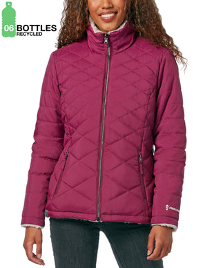 Free Country Women's FreeCycle™ Cloud Lite® Reversible Jacket - Berry - S
