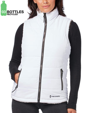 Free Country Women's FreeCycle™ Cloud Lite® Reversible Vest - White - S
