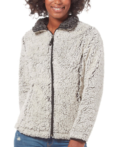 Free Country Women's Frosty Full Zip Pile Fleece Jacket - White - S